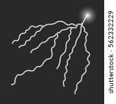 lightning icon. vector... | Shutterstock .eps vector #562332229