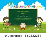 colorful kids summer camp... | Shutterstock .eps vector #562332259