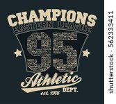los angeles athletics... | Shutterstock .eps vector #562333411