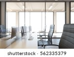 modern interior with computer.... | Shutterstock . vector #562335379