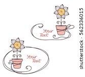 hand drawn doodle text frames...   Shutterstock .eps vector #562336015