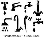 plumbing set with isolated...   Shutterstock .eps vector #562336321