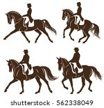4 Detailed Silhouettes Of...