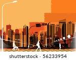 vector illustration of a modern ... | Shutterstock .eps vector #56233954