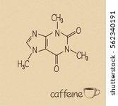 hand drawn chemical model of... | Shutterstock .eps vector #562340191