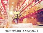 wholesale  logistic  loading ... | Shutterstock . vector #562342624