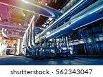 industrial zone  steel... | Shutterstock . vector #562343047