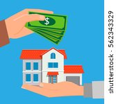 buying a new property. real... | Shutterstock .eps vector #562343329