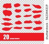 vector template set of grunge... | Shutterstock .eps vector #562344319