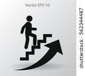 career ladder vector icon | Shutterstock .eps vector #562344487