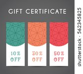 ornamental discount coupon.... | Shutterstock .eps vector #562345825