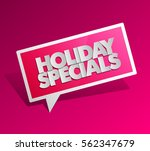 holiday specials sale square... | Shutterstock .eps vector #562347679