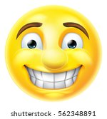cartoon emoji emoticon smiling... | Shutterstock . vector #562348891