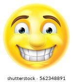 cartoon emoji emoticon smiling... | Shutterstock . vector #562348891