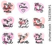 hand written phrase. vector... | Shutterstock .eps vector #562350691