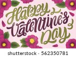 happy valentines day. romantic... | Shutterstock .eps vector #562350781