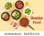 meat and vegetable dishes icon...   Shutterstock .eps vector #562351111