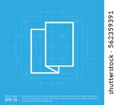brochure flyer icon