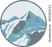 mountains in round frame ...   Shutterstock .eps vector #562363111