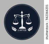 scales of justice icon. lawyer... | Shutterstock .eps vector #562366201