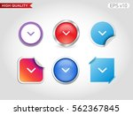 colored icon or button of down... | Shutterstock .eps vector #562367845