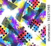seamless pattern urban design.... | Shutterstock . vector #562371985