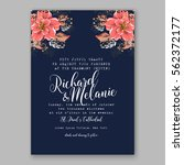 wedding invitations with... | Shutterstock .eps vector #562372177