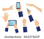 business concept of hand in... | Shutterstock .eps vector #562373629