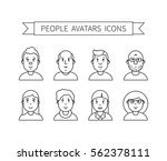 set wth thin line icon of... | Shutterstock .eps vector #562378111