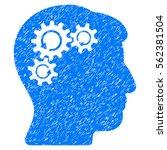 mind gear rotation grainy... | Shutterstock .eps vector #562381504