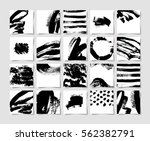 set of 20 black ink brushes... | Shutterstock .eps vector #562382791