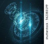 abstract technology user... | Shutterstock .eps vector #562383199