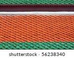 Thai style roof tiles - stock photo