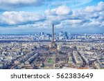 aerial view of paris city and... | Shutterstock . vector #562383649