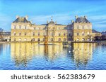 palace in the luxembourg... | Shutterstock . vector #562383679
