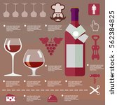 illustration wine infographic... | Shutterstock .eps vector #562384825