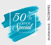 sale special offer 50  off sign ... | Shutterstock .eps vector #562384981