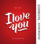 i love you hand made premium... | Shutterstock .eps vector #562386025