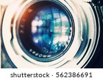 diaphragm of a camera lens... | Shutterstock . vector #562386691