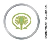 the palm jumeirah icon in... | Shutterstock .eps vector #562386721