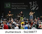 "VANCOUVER, BC, CANADA - JUNE 27: ""Doran-Stucky-Studer-Tacuma"" perform during Vancouver International Jazz Festival on June 27, 2010 in Gastown, Vancouver, BC, Canada - stock photo"