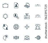 set of 16 business management... | Shutterstock .eps vector #562391725