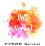 watercolor imitation splash... | Shutterstock .eps vector #562392121