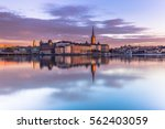 panorama of the old town of... | Shutterstock . vector #562403059