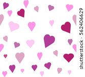 seamless  pattern with heart.... | Shutterstock .eps vector #562406629