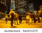 blurred light motion people... | Shutterstock . vector #562411375