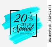 sale special offer 20  off sign ... | Shutterstock .eps vector #562411645