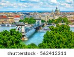 chain bridge on danube river in ... | Shutterstock . vector #562412311