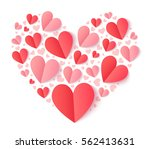vector heart shape filled with... | Shutterstock .eps vector #562413631
