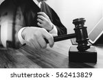 justice and law concept.male... | Shutterstock . vector #562413829